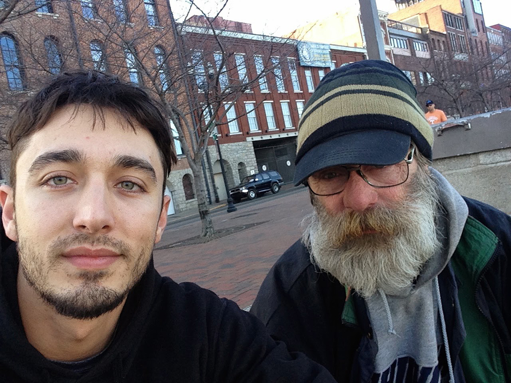 two homeless men