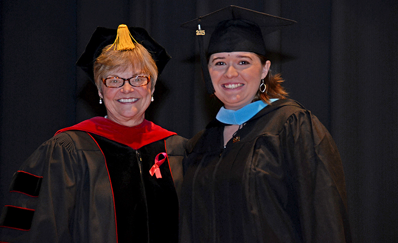 a professor and graduate student